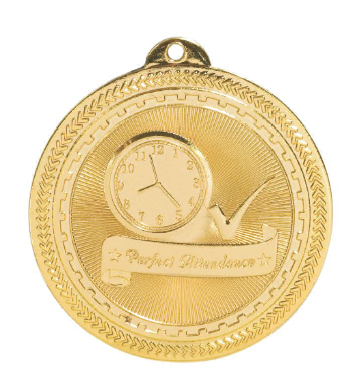 Perfect Attendance Medals Award Trophy W/Free Lanyard FREE SHIPPING BL314 - Winter Park Products