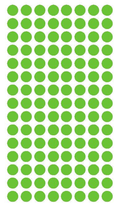 "1/4"" LIME GREEN Round Color Coding Inventory Label Dots Stickers - Winter Park Products"