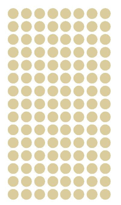 "1/4"" BEIGE/TAN Round Color Coding Inventory Label Dots Stickers - Winter Park Products"