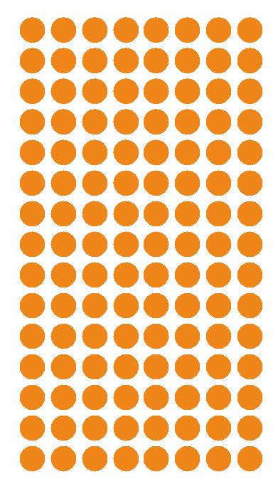"1/4"" LIGHT ORANGE Round Color Coding Inventory Label Dots Stickers - Winter Park Products"