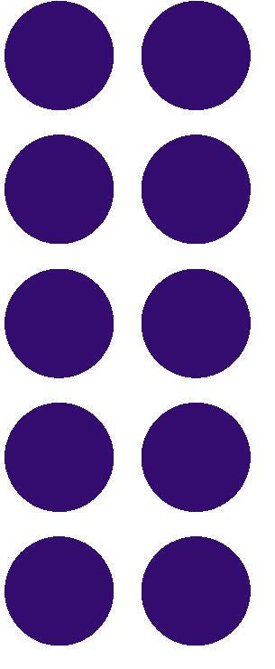 "1-1/2"" Purple Round Color Coded Inventory Label Dots Stickers - Winter Park Products"