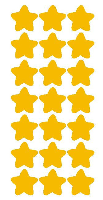"1-1/4"" Golden Yellow Star Stickers Wedding Envelope Seals School Arts & Crafts - Winter Park Products"