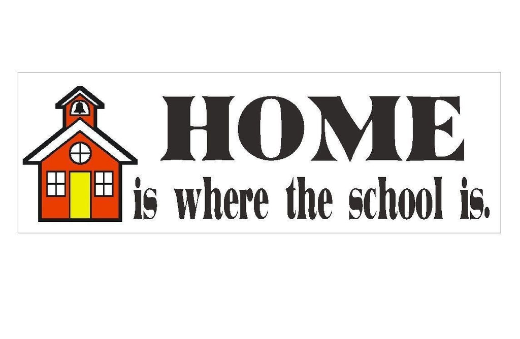 Home School Bumper Sticker or Helmet Sticker D130 - Winter Park Products