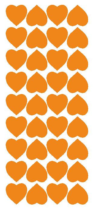 "Light Orange 1"" Heart Stickers BRIDAL SHOWER Wedding Envelope Seals School arts & Crafts - Winter Park Products"