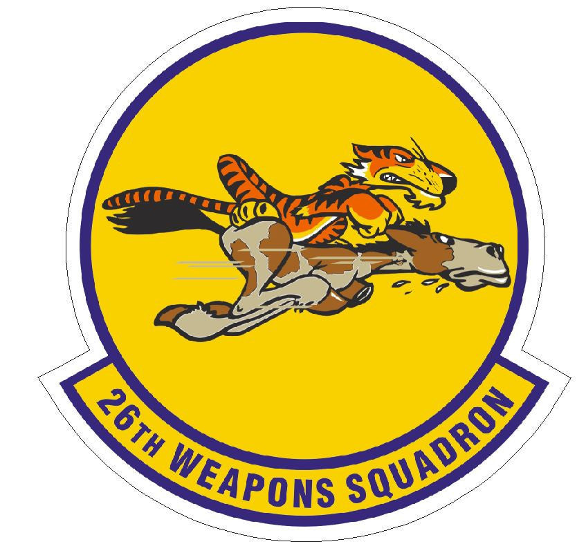 26th Weapons Squadron Sticker R453 - Winter Park Products