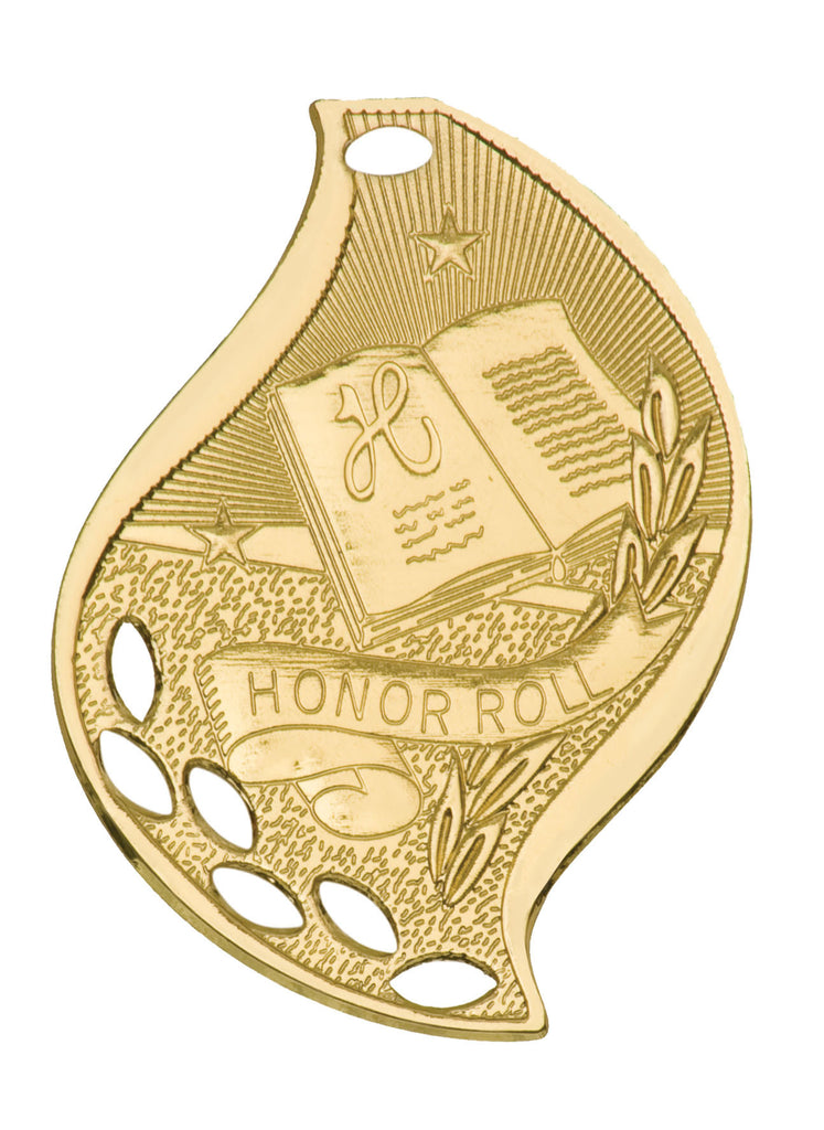 Honor Roll Medal Award Trophy With Free Lanyard FM207 - Winter Park Products