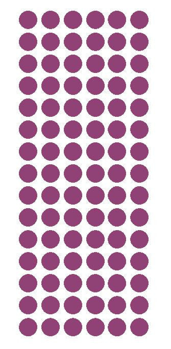 "1/2"" PLUM Round Vinyl Color Coded Inventory Label Dots Stickers - Winter Park Products"