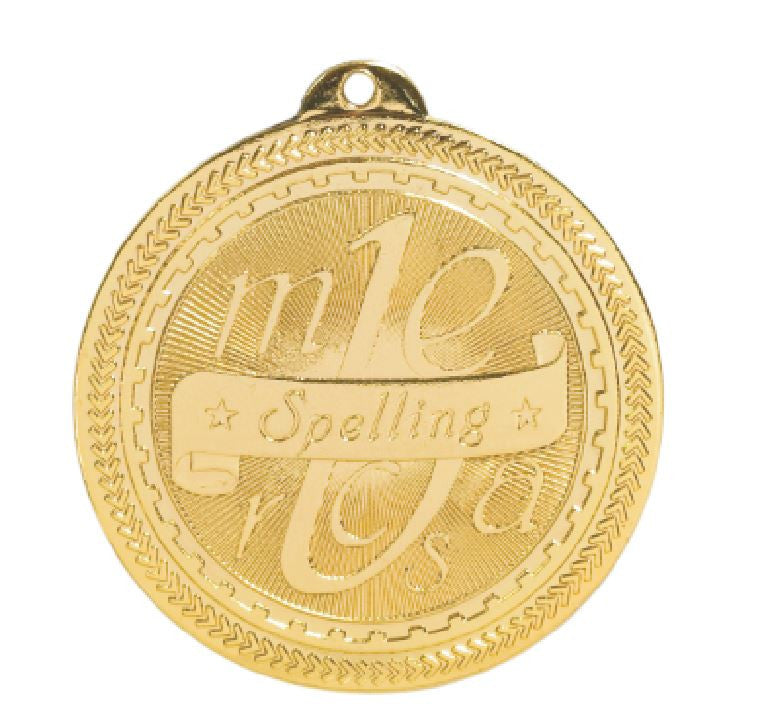 Spelling Bee Medals Award Trophy W/Free Lanyard FREE SHIPPING BL318 - Winter Park Products