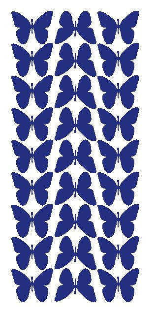 "Dark Blue 1"" Butterfly Stickers BRIDAL SHOWER Wedding Envelope Seals School arts & Crafts - Winter Park Products"