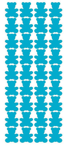 "1"" Baby Blue Teddy Bear Stickers Baby Shower Envelope Seals School arts Crafts - Winter Park Products"