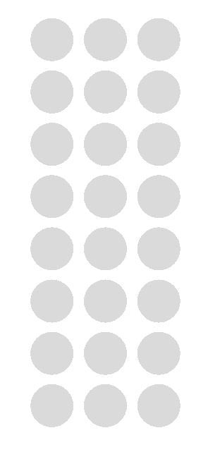 "1"" Light Gray Grey Round Vinyl Color Code Inventory Label Dot Stickers - Winter Park Products"