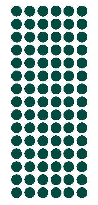 "1/2"" DARK GREEN Round Vinyl Color Coded Inventory Label Dots Stickers - Winter Park Products"