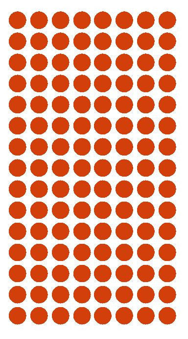 "1/4"" RED Round Color Coding Inventory Label Dots Stickers - Winter Park Products"