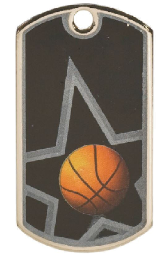 Basketball Dog Tag Award Trophy W/Free Bead Chain FREE SHIPPING DT102 - Winter Park Products