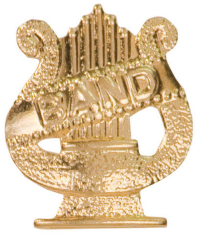 Gold Finish Metal Band Pin TIE TACK Show Music School Varsity Insignia Chenille - Winter Park Products