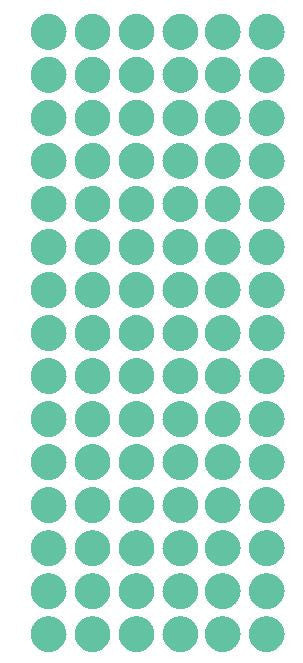 "1/2"" MINT GREEN Round Vinyl Color Coded Inventory Label Dots Stickers - Winter Park Products"