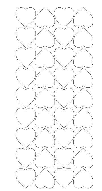 "White 1"" Heart Stickers BRIDAL SHOWER Wedding Envelope Seals School arts Crafts - Winter Park Products"