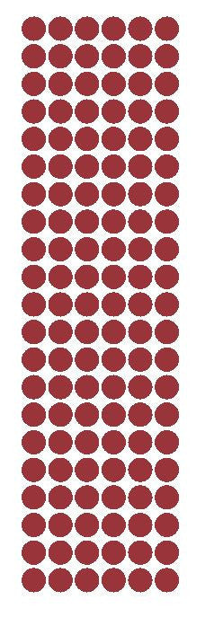 "3/8"" Burgundy Round Vinyl Color Code Inventory Label Dot Stickers - Winter Park Products"
