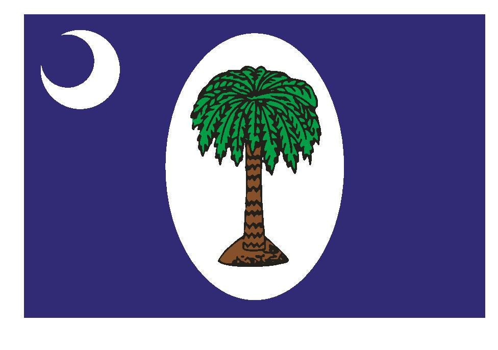 South Carolina 2 Day Flag Sticker F624 - Winter Park Products