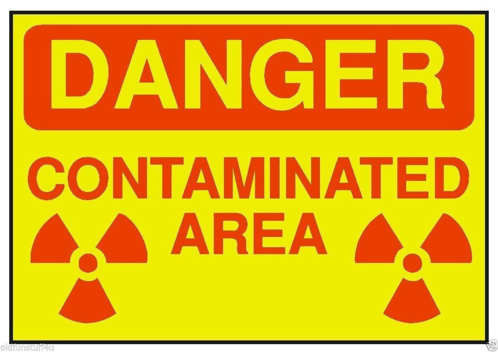 Danger Contaminated Area OSHA Safety Sign Sticker D196 - Winter Park Products