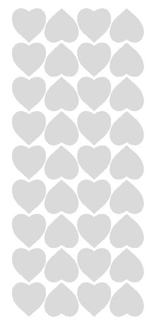 "Light Grey Gray 1"" Heart Stickers BRIDAL SHOWER Wedding Envelope Seals School arts Crafts - Winter Park Products"