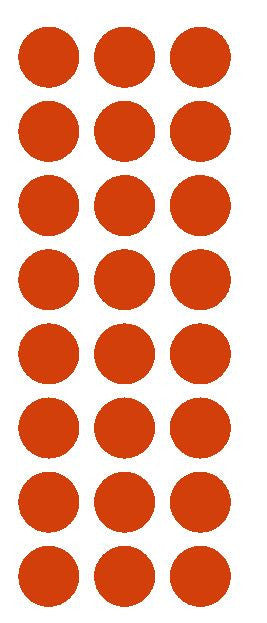 "1"" Red Round Vinyl Color Code Inventory Label Dot Stickers - Winter Park Products"