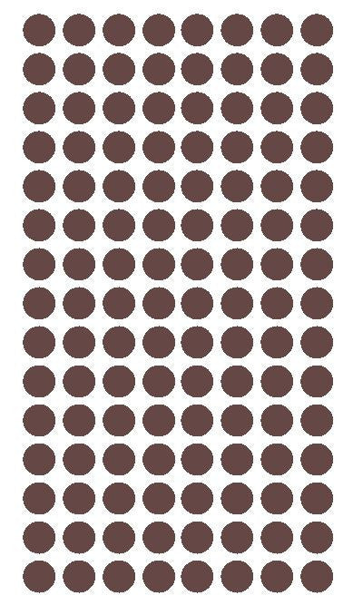 "1/4"" BROWN Round Color Coding Inventory Label Dots Stickers - Winter Park Products"
