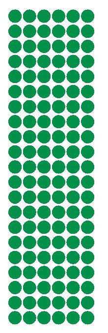 "3/8"" Green Round Vinyl Color Code Inventory Label Dot Stickers - Winter Park Products"