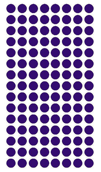 "1/4"" PURPLE Round Color Coding Inventory Label Dots Stickers - Winter Park Products"