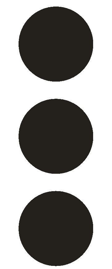 "3"" Black Round Color Code Inventory Label Dots Stickers - Winter Park Products"