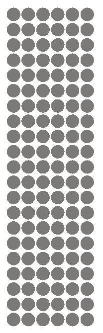 "3/8"" Dark Grey Gray Round Vinyl Color Code Inventory Label Dot Stickers - Winter Park Products"