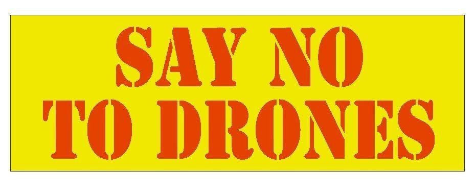 Anti Obama Say No To Drones Political Bumper Sticker or Helmet Sticker D357 - Winter Park Products