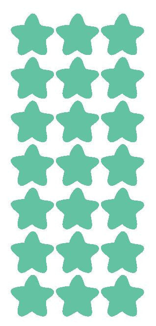 "1-1/4"" Mint Green Star Stickers Wedding Envelope Seals School Arts & Crafts - Winter Park Products"