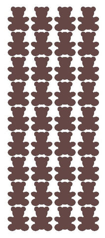 "1"" Brown Teddy Bear Stickers Baby Shower Envelope Seals School arts Crafts - Winter Park Products"