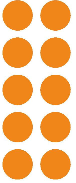 "1-1/2"" Lt Orange Round Color Coded Inventory Label Dots Stickers - Winter Park Products"