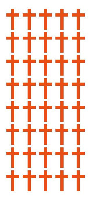 "1"" Orange Cross Stickers Envelope Seals Religious Church School arts Crafts - Winter Park Products"