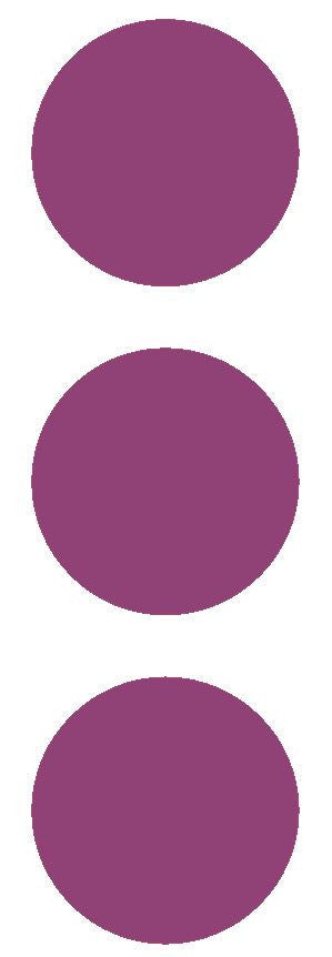 "2-1/2"" Plum Round Color Code Inventory Label Dots Stickers - Winter Park Products"