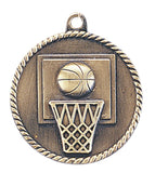 Basketball Medal Award Trophy With Free Lanyard HR710 - Winter Park Products