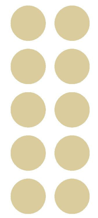 "1-1/2"" Beige Tan Round Color Coded Inventory Label Dots Stickers - Winter Park Products"