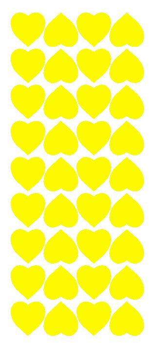 "Light Yellow 1"" Heart Stickers BRIDAL SHOWER Wedding Envelope Seals School arts & Crafts - Winter Park Products"
