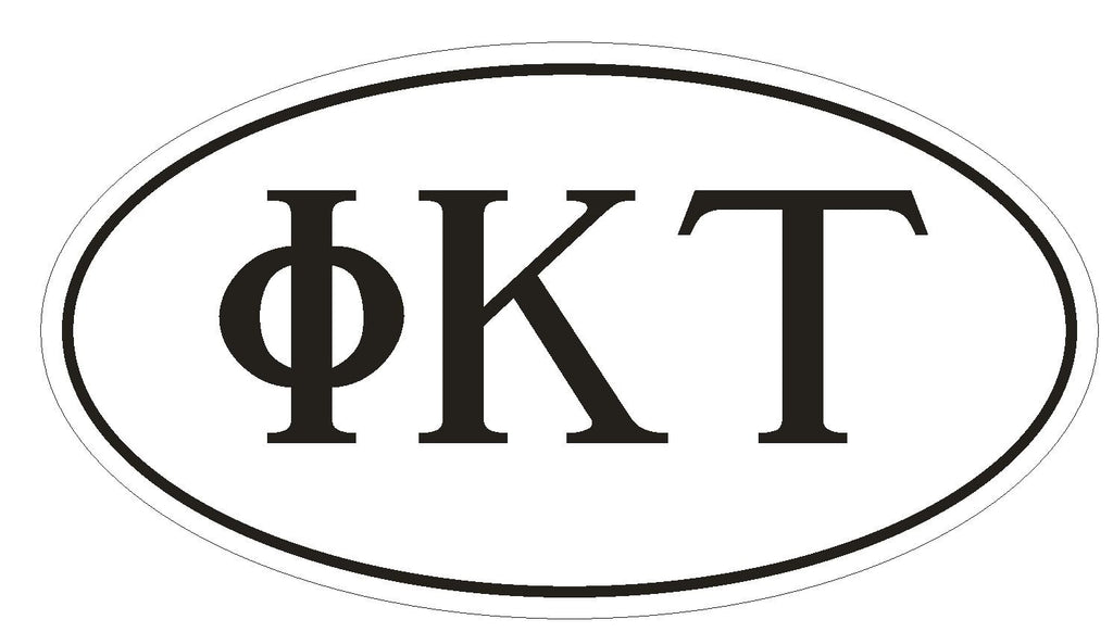 Phi Kappa Tau Fraternity EURO OVAL Bumper Sticker or Helmet Sticker D566 - Winter Park Products