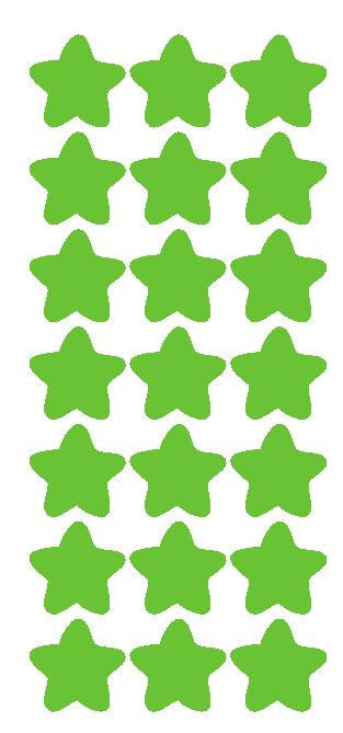 "1-1/4"" Lime Green Star Stickers Wedding Envelope Seals School Arts & Crafts - Winter Park Products"