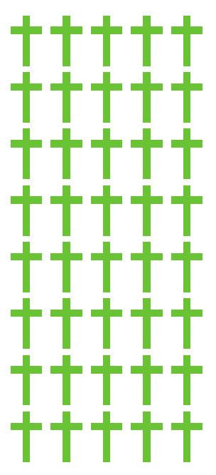 "1"" Lime Green Cross Stickers Envelope Seals Religious Church School arts Crafts - Winter Park Products"