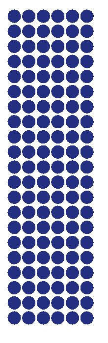 "3/8"" Dark Blue Round Vinyl Color Code Inventory Label Dot Stickers - Winter Park Products"