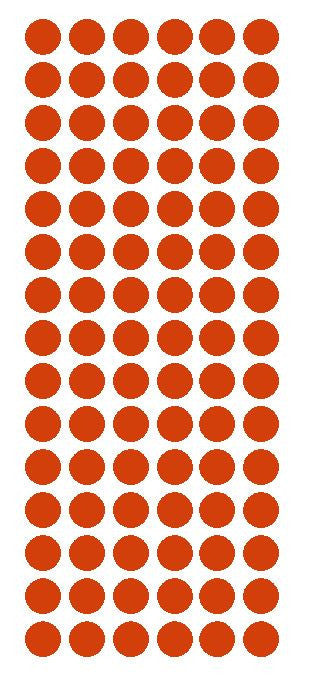 "1/2"" RED Round Vinyl Color Coded Inventory Label Dots Stickers - Winter Park Products"