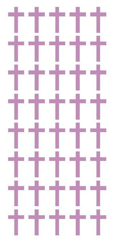 "1"" Lilac Cross Stickers Envelope Seals Religious Church School arts Crafts - Winter Park Products"