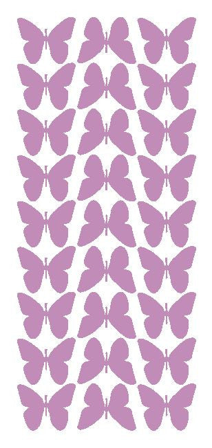 "Lilac 1"" Butterfly Stickers BRIDAL SHOWER Wedding Envelope Seals School arts & Crafts - Winter Park Products"