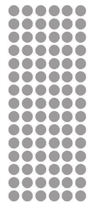"1/2"" SILVER Round Vinyl Color Coded Inventory Label Dots Stickers - Winter Park Products"