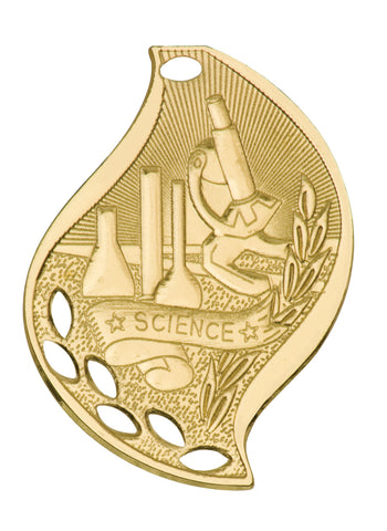 Lot of 30 Gold Science Medal Award Trophy With Free Lanyard FM216 - Winter Park Products