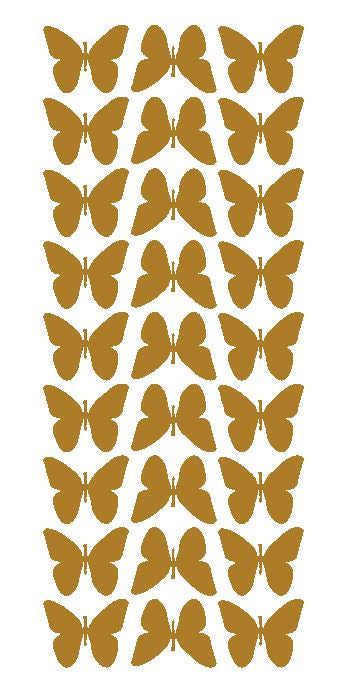 "Gold 1"" Butterfly Stickers BRIDAL SHOWER Wedding Envelope Seals School arts & Crafts - Winter Park Products"
